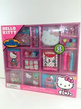 NEW Hello Kitty Mini Collectible Stationery Set, over 55 pieces! age 5+