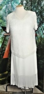 BEADED COCKTAIL  SKIRT SUIT SEPARATE PLUS  OFF WHITE 18W mother of bride