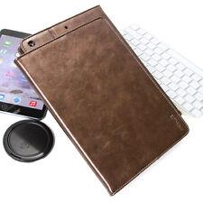 """Premium cover F. Apple iPad 5 gen. 2017 9,7"""" funda protectora cuero bolso case marrón"""