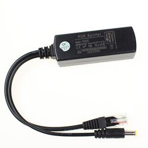 Active PoE Splitter Power Over Ethernet 48V to 12V 2A For IEEE802.3af 15.4W US