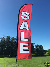 Sale Advertising Beach Flag with Pole, ground spike & carry bag