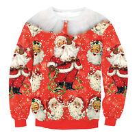 SALE Mens Womens Novelty Christmas Xmas Sweater Santa Elf Snowman Unisex Jumper