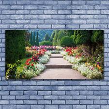 Tableau Impression Image sur Plexiglas® 140x70 Nature Escaliers Jardin
