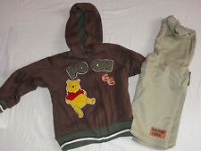 NEW DISNEY WINNIE THE POOH,TIGGER 2PC REVERSIBLE OUTFIT SET 4 YEARS HOODIE BOYS
