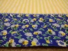 Vintage Laura Ashley Polyanthus Primrose Twin Flat/Fitted Sheet Set Yellow Blue