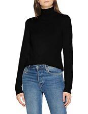 Esprit edc Black Polo Neck Cotton Blend Top Size M Bnwt
