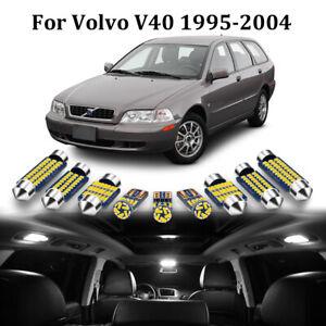 18 Bulbs LED Interior Dome Light Package Kit 6000K White For 1995-2004 Volvo V40