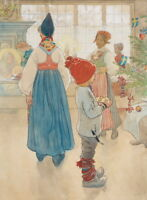 Carl Larsson Christmas Eve Giclee Canvas Print Paintings Poster Reproduction