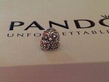 AUTHENTIC Pandora Sterling Charming Owls Charm 791966 Mom and Baby