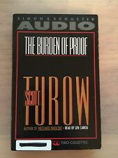 THE BURDEN OF PROOF by: Scott Turow  (1990, Cassette, Abridged)  (3305)