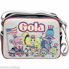 Gola Redford Nyc Parade Messenger Bag - White / Blue / Red