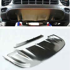St HOT Style For Porsche Cayenne 11-14 Stainless Steel FRONT+ REAR Skid Plate