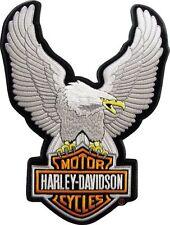 Harley Davidson Toppa Modello Upwing Eagle Argento Misura ca. 10,0 cm da 7,5 cm