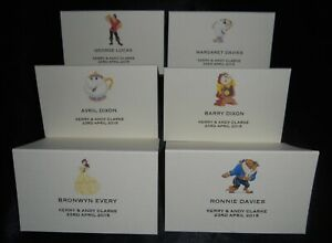 PERSONALISED BEAUTY AND THE BEAST WEDDING NAME PLACE CARDS PLACE NAME SETTINGS
