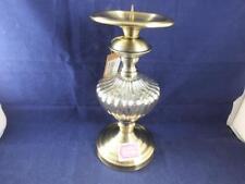 Madame Posh Metal and Glass Pillar Candle Holder.
