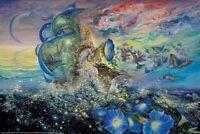 JOSEPHINE WALL ~ ANDROMEDA'S QUEST 24x36 FANTASY ART POSTER Fairy Fairies Faery