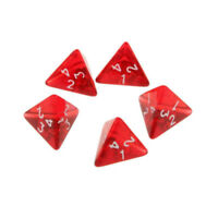 Dice Red Dragons TRPG Game Acrylic Material Multi Sided D4 Dungeons Role Playing