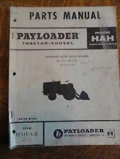 """1959 """"Payloader Tractor-Shovel (Model Hah)"""" Parts Manual"""