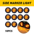 Marker Lights 34 Led Truck Trailer Round Clearance Side Light Amber Red