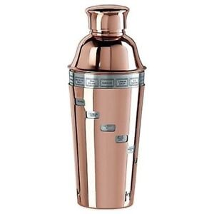 Dial-A-Drink Copper Plated 34 Ounce Cocktail Shaker by Oggi featuring 15 Classic