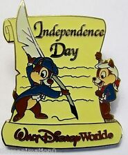 Disney Wdw Independence Day Chip & Dale Pin