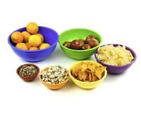 Nested Melamine 6 Pcs. Mixing Bowls Salad Bowl Set - Bright Color Coded