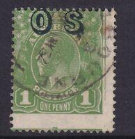 G454) Australia 1932 KGV C of A wmk 1d Green optd 'OS'
