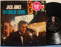 JACK JONES My Kind of Town RARE EXC 1965 DG ORIG KAPP STEREO LP Marty Paich Orch