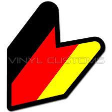 """5"""" German Wakaba Leaf Flag Germany Decal Sticker JDM"""