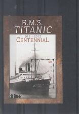 Mustique Grenadines St Vincent 2012 MNH Titanic Centennial 1v S/S 1912 RMS