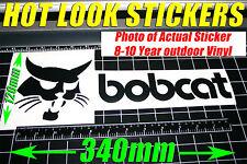 Bobcat Decal Sticker Mini Excavator Tractor Skid Steer Heavy Machinery 340 x 120