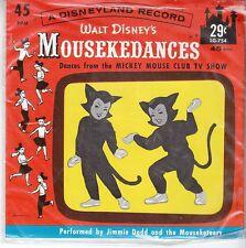 Mouseketeers DISNEY 45 & PIC SLEEVE (Disneyland 754) Mousekedances STILL SEALED!