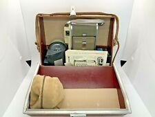Vintage Polaroid Land Camera Model 80A w/ Leather Case, Film Roll, Flash Attach.