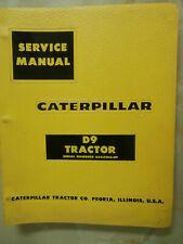 CATERPILLAR D9 TRACTOR SERVICE MANUAL