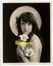 COLLEEN MOORE ORIGINAL 8X10 PHOTO 1920's PORTRAIT HOLDING EASTER LILLIES