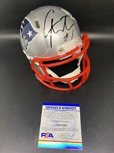 cam newton signed autographed speed mini helmet patriots panthers psa coa cert