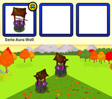 2015 Webkinz Halloween FREAKY FOREST Item: Eerie Aura Well (stores clothing!)