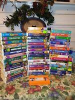 Lot 50 Kids FAMILY Movies VHS Tapes Barney Disney Thomas Blues Veggie Bob