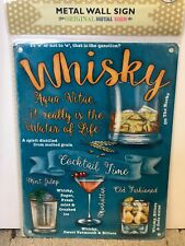 Whisky - SMALL - Tin Metal Wall Sign *Top 100*