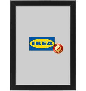 IKEA FISKBO Bilderrahmen 21x30 cm schwarz A4 Fotorahmen Bilder Foto Rahmen NEU S