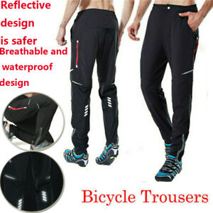 Mountain Reflective Riding Trousers Bike Trousers Waterproof Pants Cycling Man's