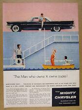 1958 Chrysler Saratoga Hardtop black car photo vintage print Ad