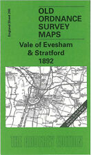 OLD ORDNANCE SURVEY MAP VALE OF EVESHAM STRATFORD BADSEY CHIPPING CAMPDEN 1892