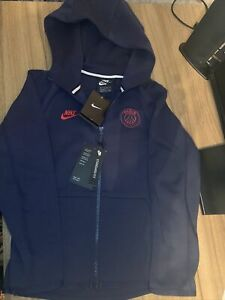 Brand New Kids Nike PSG Hoodie Zip Up Blue Size XS 8-10year Old