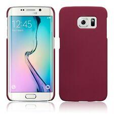 Para Samsung Galaxy S6 Edge de goma duro caso cubierta trasera-Rojo Oscuro