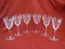 BACCARAT,COMPIEGNE,CRYSTAL WINE GLASSES,SET OF 6.