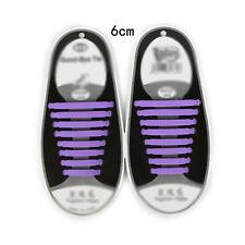 12 pcs Novelty Unisex Shoelaces Silicone Elastic Sneaker Lazy Shoe Laces