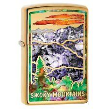 Fusion Smokey Mountains High Polished Brass Zippo Lighter 79776