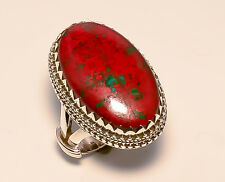 SONORA SUNRISE JASPER VINTAGE STYLE 925 STERLING SILVER RING SIZE 6.25 US