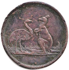 OPTICIANS & JEWELLERS SYDNEY & BRISBANE AUSTRALIA FLAVELLE Bros TOKEN CIRCA 1860